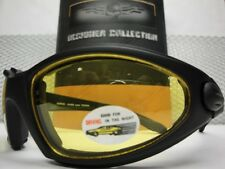 Men MOTORCYCLE BIKER Day Night RIDING DRIVING Yellow Lens PADDED GLASSES GOGGLES