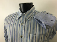 Tommy Bahama Jeans Shirt Striped Island Crafted Long Sleeves Shirt  M Medium