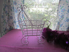 "10"" Wire Baby Carriage  - For Baby Shower Decorations -           ( Item 1005-W)"