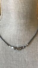 """HEMATITE Magnetic Necklace Chocker Star Chakra Therpeutic Magnet Therapy 17"""""""
