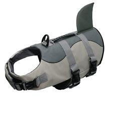 Shark Dog Life Jacket Large Neoprene Preserver Safety Vest for Swimming Gray