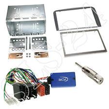 Clarion VOLANTE Interface + ALFA ROMEO 147 GT tipo 937 DOPPIO DIN Mascherina Antracite