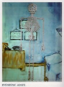 Macrame Wishbone Jones Skeleton Halloween Wall Decor Guys 'n Gals No. 2 PD1082