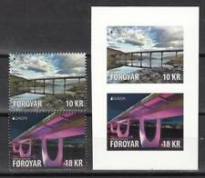 CEPT Faroer Faroyar 2018 Mi    MNH ** Bridges  Stamp set + Set Self Adshive