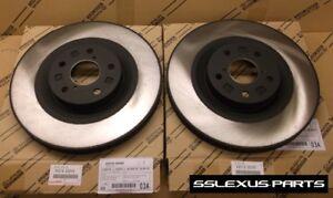 Lexus GS350 GS450H (2011-2018) (Base) OEM Genuine FRONT BRAKE ROTOR SET (x2)