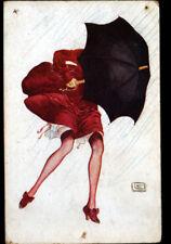 FEMME & COUPS de VENT en 1917 ... par Georges LEONNEC / illustrateur Breton