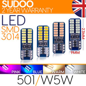 501 w5w T10 24 LED 3014 SMD Car Bulb Light Canbus error FREE NEW for 2021