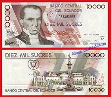 ECUADOR 10000 Sucres 1999 Pick 127e  SC /  UNC