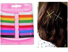 100 Bobby Hair Pins Clips Hairclips Postage G92
