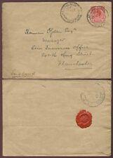 GOLD COAST OBUASI 1919 RAILWAY TPO 3 to GB + GRID SEAL