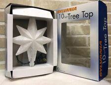 Sylvania Christmas 10 Light Tree Top Topper Light Star in Box It Works! 11� x 8�