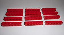 Lego (3894) 12 Lochsteine 1x6x1, in rot aus 8081, 7994, 76763, 7665, 6869