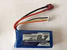 Turnigy 700Mah 11.1V 3S 30C-60C LiPo Battery w/ DEANS CONNECTOR USA SELLER