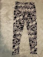 NWT Girl's Kyra Skeleton Skull Flower Halloween Leggings Pants Child's S/M