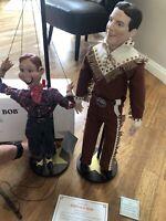 DANBURY MINT 1999 Howdy Doody & Buffalo Bob Porcelain Dolls Complete w/ Stands!!