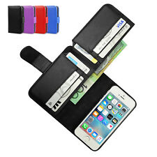 Leather Wallet Card Pocket Flip Case Cover for Apple iPhone 6S 6 Plus 4S 5S 5C