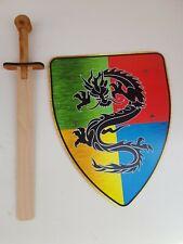 Juguete de Madera espada y un escudo Set-Juego de Rol