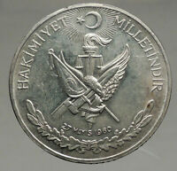 1960 Turkey 27 May REVOLUTION - Silver 10 Lira Coin Mustafa Kemal Atatürk i56728