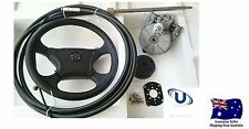 NEW  3.65m~12FT UNIVERSAL BOAT STEERING WHEEL SYSTEM QUICK CONNECT STEERING KIT