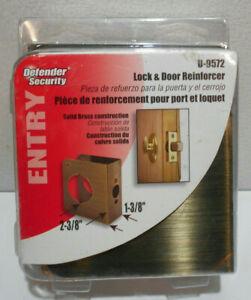 Lot of 2 New Brass Door Lock Knob Cover Reinforcer U-9572