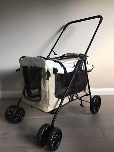 Display4top Dog Cat Pet Travel Stroller Pram Pushchair Buggy Jogger Used Once