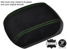 GREEN STITCHING REAL SUEDE ARMREST COVER FITS HOLDEN CRUZE JG JH 2011-2016