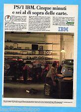 QUATTROR990-PUBBLICITA'/ADVERTISING-1990- IBM PS/1 - PERSONAL COMPUTER