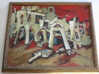 MID CENTURY PAINTING ABSTRACT EXPRESSIONIST MODERNISM IMPRESSIONISM MASTERFUL