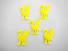 loose cake decorations 5 x liverbirds Great for any Liverpool fans. ( yellow)