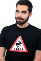 Stag Sign T-shirt Personalised Mens Stags Night Party Holiday Wedding Summer Hen
