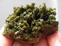 EPIDOTE LIGHT GREEN BRILLIANT CRYSTALS on MATRIX from PERÚ......GORGEOUS EPIDOTE