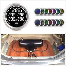 52mm 7 Colors Digital Air Pressure Gauge+5Pcs 1/8NPT Electronic Sensors+U Holder