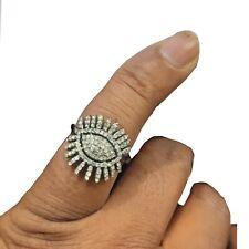 Women Wear Jewelry Size Us 7 Rn-2865 Diamond Pave Evil Eye Ring Sterling Silver