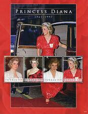 Tuvalu 2010 MNH Princess Diana 1961-1997 4v M/S I Royalty Stamps