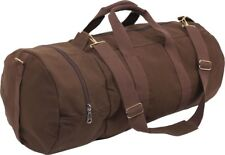 "Brown Canvas Double-Ender Sports Gym Duffle Bag 30"" x 13"""