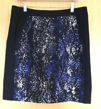 Planet Ladies Skirt 12 Blue Pencil Smart Work Office Evening Pockets Business