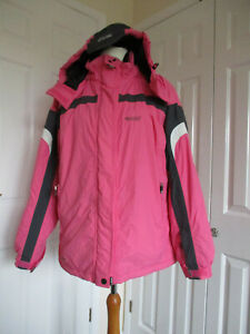 BRG (Brugi) pink ladies ski/snowboarding hooded jacket - size M/L
