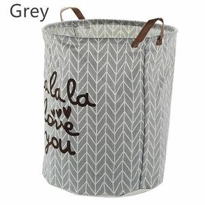 Washing Dirty Clothes Laundry Basket Canvas Baby Toy Hamper Bin Storage Bag Box