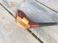 Vintage Wood Golf Club Austad's 5 Steel Shaft Swing Rite Grip Wall Art Deco