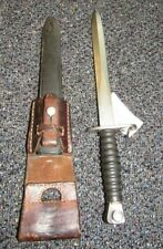 Swiss Stgw. 57 bayonet with scabbard and leather frog