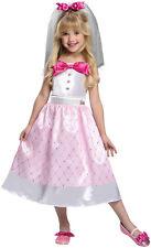 Girls Bride Barbie Toy Halloween Costume sz 2T-4T