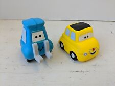 Lot of 2 Disney CARS Movie Antenna Topper GUIDO LUIGI NEW Yellow Fiat