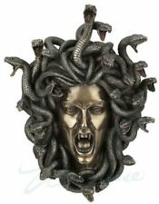 Medusa Head Wall Plaque Sculpture w/Snakes Greek Statue FATHERS DAY GIFT