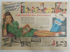 Shinola Shoe Polish Ad: Sally's Spills Spruce-Up Secret ! 1930's 11  x 15 inches