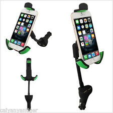 Universal 2in1 Dual USB Port Charger 360° Rotating Car Phone Stand Mount Holder