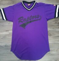 Vintage Toronto Raptors NBA Basketball Baseball Style Jersey Mens Medium Purple