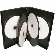 100 X 6 Way CD DVD Blu ray Case Black 22mm Spine HIGH QUALITY for 6 Discs