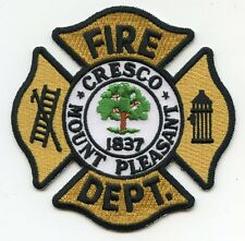 CRESCO MOUNT PLEASANT SOUTH CAROLINA SC FIRE PATCH