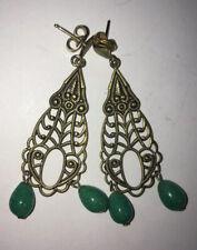 Antique Vtg Filigree Style Dangle Earrings