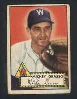 1952 Topps #90 Mickey Grasso VG/VGEX Senators 108522